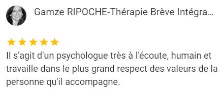 Gamze RIPOCHE-Thérapie Brève Intégrative Il s'agit d'un psychologue très à l'écoute, humain et travaille dans le plus grand respect des valeurs de la personne qu'il accompagne.